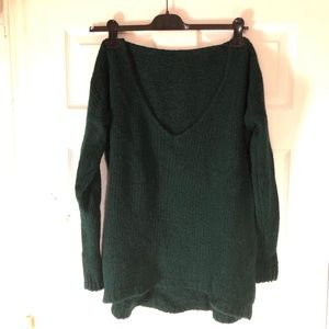 Brandy Melville oversized forest green sweater OS